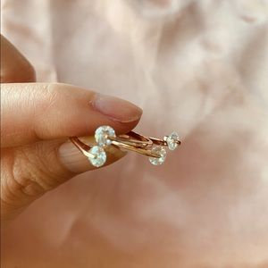 Stackable Rose Gold Rings (Set of 2)